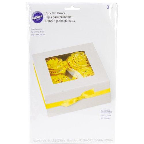 Wilton 3-Pack 4 Cavity Cupcake Box, White