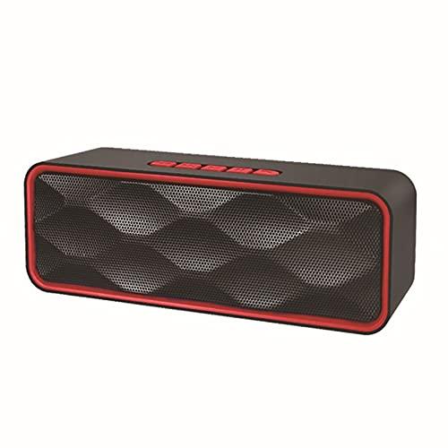 Altavoz Bluetooth de doble cuerno, altavoz inalámbrico con bajos profundos, sonido estéreo, tiempo de juego 6h, soporte TF Tarjeta / AUX / USB, MIC incorporado para viajes de fiesta al aire libre en e