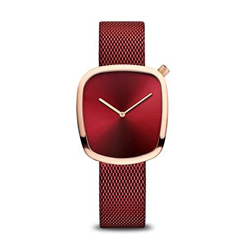BERING Damen Analog Quarz Classic Collection Armbanduhr mit Edelstahl Armband und Saphirglas 18034-363