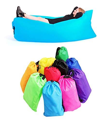 CAMPERS Aufblasbare Liege Air Sofa Outdoor Tragbare schnell aufblasbare Matratze Wasserdicht Couch Hängematte Perfekt für Camping Picknick Strand Pool, violett