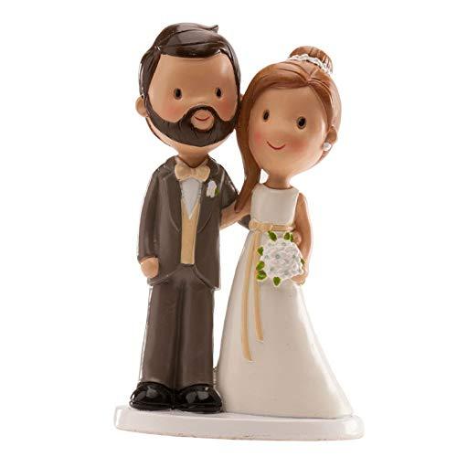 Figura boda PERSONALIZADA novios muñecos tarta GRABADAS barba