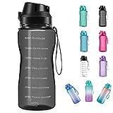 4AMinLA Motivational Water Bottle 64/100oz Half Gallon Jug with Straw...