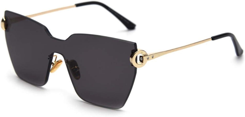 Sonnenbrille EIN Stück Sonnenbrillen Randlos Gold Mit Schwarz Sommer Zubehör Big Square Sonnenbrillen Für Frauen Gelb Braun Schwarz B07Q2BRQW5  Wertvolle Boutique