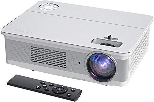 Proyector, COOAU 6800 Lúmenes Proyector Full HD 1920x1080P Nativo Soporta 4K con Altavoces HiFi, Pantalla Gigante de 300', 2020 Proyectores Cine en Casa, Compatible con VGA / HDMI / AV / USB