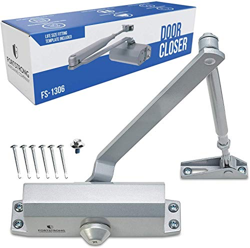 Door Closer FS-1306 Automatic Adjustable Closers Grade 3 Spring Hydraulic Auto Door-Closer with Easy...
