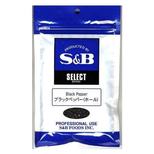 S&B セレクトスパイス ブラックペッパー(ホール) 100g袋【入り数3】
