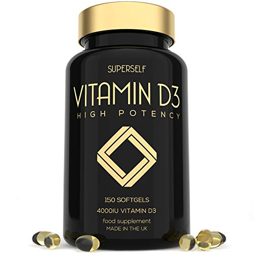 Vitamin D 4000 IU - 150 Softgel Capsules - High Strength Vitamin D3 - VIT D3 Supplement Tablets for Bones, Teeth, Immune System - Easy to Swallow High Absorption Vitamin D Cholecalciferol 4000IU