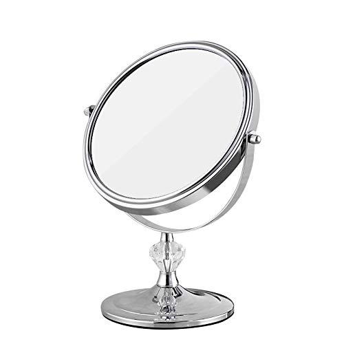 Bath Miroir cosmétique de beauté de miroirs de Table, grossissement Double de miroirs de Salle de Bains, grossissement 3X, Laiton,3X_7inch