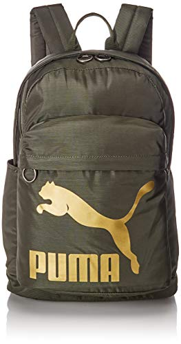 Puma Originals Backpack, Unisex Adulto, Forest Night/Gold, OSFA