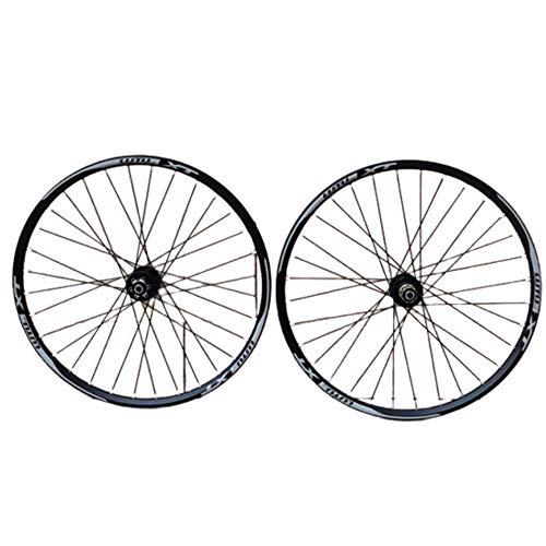 Juego De Ruedas Bicicleta Rueda Montaña 26 Pulgadas con Cuatro Discos Rodamiento...