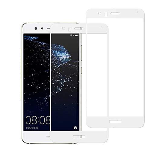 EUGO Huawei P10 Lite Pellicola Vetro Temperato Full Coverage Screen Protector Pellicola Protettiva Ultra Resistente in Vetro temperato - Bianca