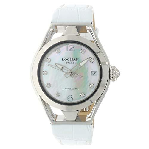 Locman Italy Reloj de mujer Montecristo Lady blanco con diamantes aprox. 0,10 ct. Ref. 0526