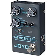 JOYO R-14 Atmospheres Reverb Pedal Multi Mode Effects with PLATE/CHURCH/SHIMMER/REWIND/FOREST/COMET for Electric Guitar