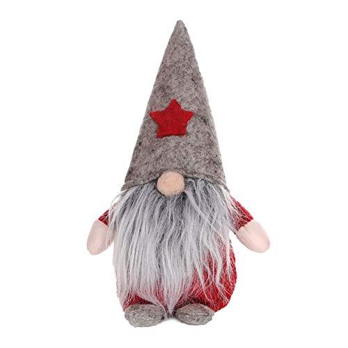 Onewell Langbart Stehend Plüsch Weihnachtsgnom Christbaumkugel Weihnachtsmann Gnom Weihnachten Spielzeugfigur Plüschtier Puppe für Weihnachtsfeier Kamin Baum Hängende Dekoration