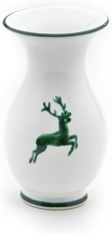 Gmundner Keramik Manufaktur 0324VAAI16 grüner Hirsch Vase, 16 cm B0086UTP0M