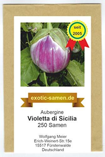 Aubergine - Eierfrucht - mittelfrüh - Violetta di Sicilia - 250 Samen