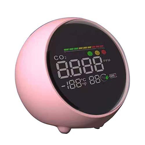 Festnight Detector de CO2 Pantalla LCD Temperatura Humedad Medición IAQ Interior Hotel Hospital Oficina Herramienta multifunción de utilidad