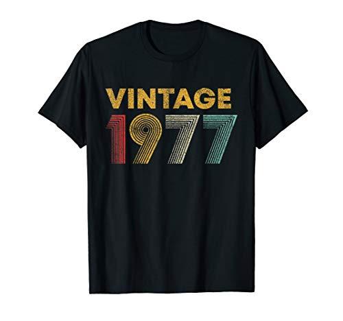 43rd Birthday Gift Idea Vintage 1977 Men Women T-Shirt