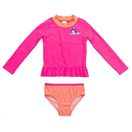 Carter's Baby Girls' Infant Long Sleeve Pocket Mermaid Rash Guard Set, Pink, 6-9 Months