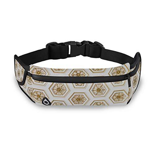 Stylische Lauftasche für Damen und Herren, mit Kopfhöreranschluss, verstellbare Taille, Wandern, Sport, Kunst, Outdoor