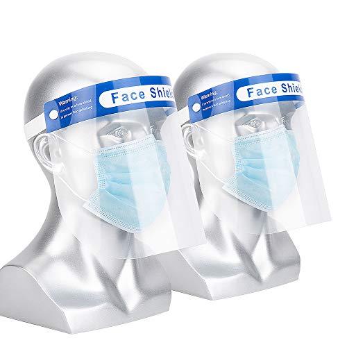 Visera Protectora,Protectores Faciales de Seguridad,Protector Facial Antiniebla Contra Salpicaduras de Aceite y Saliva(2 Pcs)