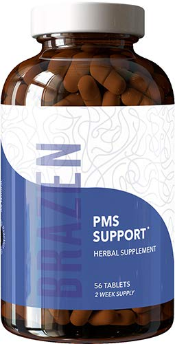 Brazen PMS Support Supplements: All Natural Formula for Women to relieve Premenstrual Irritability, Bloating, Digestive Issues, Headache - Research-backed, Made in USA - One Cycle Pack