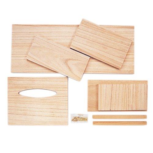 サンモク 木工キット 兼用ティッシュボックス ダストボックス付 9802936