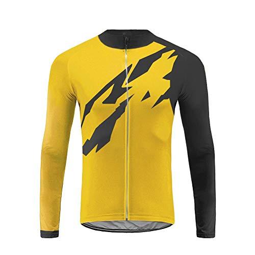 UGLY FROG Bike Wear Fahrradtrikot Herren Frühjahr-Herbst Lange Ärmel Top Atmungsaktiv Durchgehender Reißverschluss Schnell Trocknend Sports Wear