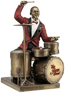 WU Drum Player Statue Sculpture Figurine - Jazz Band Collection