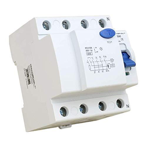 Interruptor diferencial 4P 40A 30mA Tipo A Interruptor FI RCCB RCD Interruptor Doktorvolt 5040