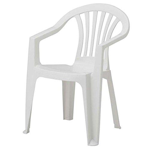 Stuhl aus Polypropylen Ratak 'Kette' Monoblock Polypropylen. Wetterfest.Abmessungen cm 56x 56H cm 79.Stapelbar.