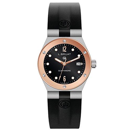 Reloj L.Bruat señora LB36 Scaphandre 1409 Bisel Oro Rosa