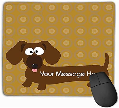 N/A Custom Muismat, uniek bedrukt mat design dakshond Hot Dog Background 25 x 30 cm