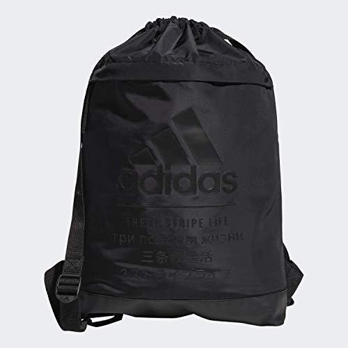 adidas Unisex Amplifier Blocked Sackpack, Black, ONE SIZE