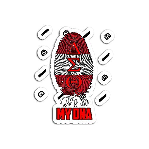 Decal Stickers for Laptop Sticker for Tumblers Delta DST Sorority DNA Diva Sigma Theta Paraphernal Waterproof Decal Perfect for Phone Water Bottle Vehicles (5 Pcs/Pack)