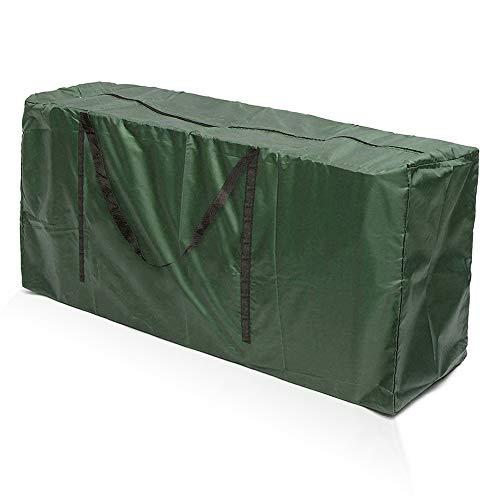 harupink Funda para cojines de decoración exterior, 210D Oxford bolsa de jardín, grande, impermeable, asa robusta, diseño con cremallera para cojines para sillas, ropa (verde 173 x 76 x 51 cm)