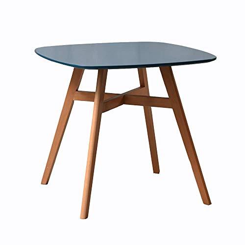 FSYGZJ Table d'appoint,Table d'appoint en Bois Massif,Table à Manger pour 4 Personnes,Petite Table carrée,Table Basse de Balcon,Table à collation,Table de Chevet 3 Couleurs (Couleur: Bleu mar