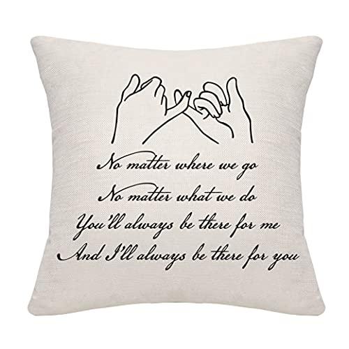 DANKHRA Funda de almohada para mujer, hombre, mejor amigo, pareja, pareja, pareja, amistad, familia, funda de cojín, regalo de cumpleaños, regalos de graduación