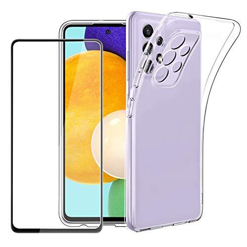 EasyAcc Durchsichtige Silikon Handy Hülle Kompatibel mit Samsung A52