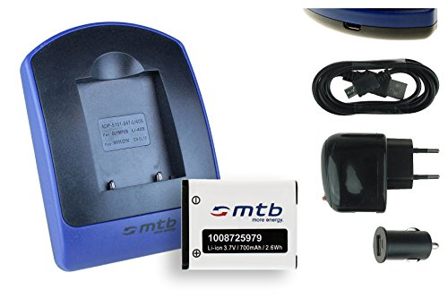 Akku + Ladegerät (USB, KFZ, Netz) für Maginon/Rollei/Tevion/Traveller/Praktica Luxmedia. - s. Liste!