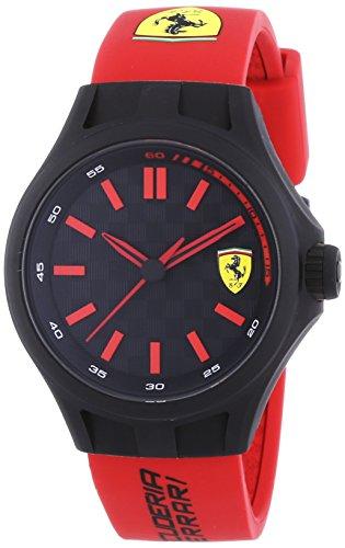 Scuderia Ferrari Pit Crew - Reloj de Cuarzo, Correa de Goma