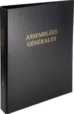 Lot de 6 Reliure Registre Assemblées Générales (condt ECO)