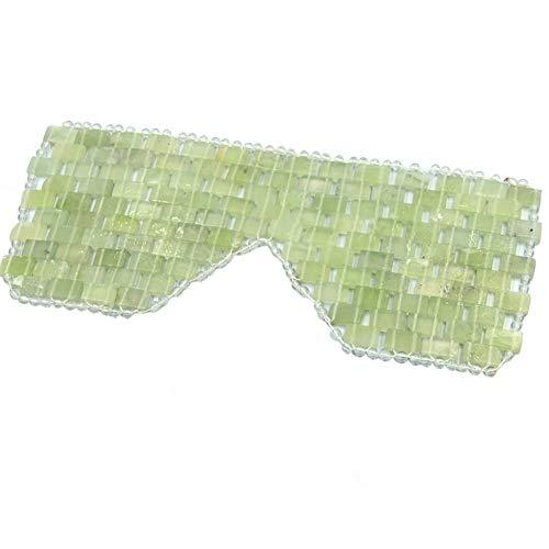 Natürliche Jade-Augenmaske Anti-Aging-Gesichtsschlaf-Augenmaske Heiße oder kalte Therapie Augenbinde für geschwollene Augen, Augenmasken für Augenringe und Schwellungen Massage-Tool