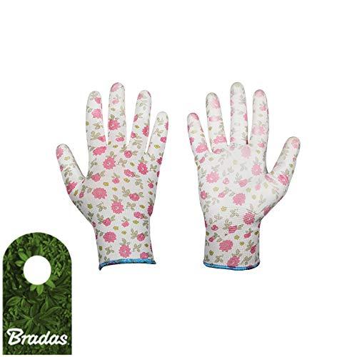 BRADAS 9944 - Guantes de protección para jardín (Poliuretano, Talla 7)