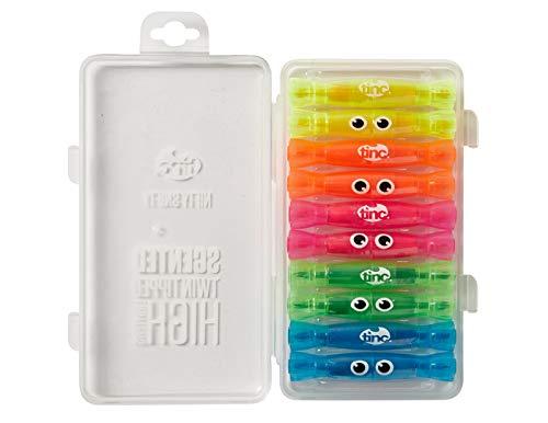 Tinc 'Nifty Snifty' - Subrayadores con olor a frutas, de doble punta, juego de 10unidades (5colores/olores diferentes)