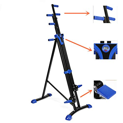 Flyerstoy Vertical Climber Cardio Exercise - Folding Exercise Climbing Machine,Total Body Workout Climber Machine for Home Gym, Exercise Bike for Home Body Trainer (Blue-Black)