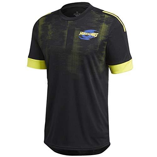 HYQ Hurricane New Zealand Rugby Shirt Männer Rugby Jersey Sommersport Freizeit T-Shirts Atmungsaktive/Schnell Trocknende Fußball-Trainingsanzüge (S-5XL),M