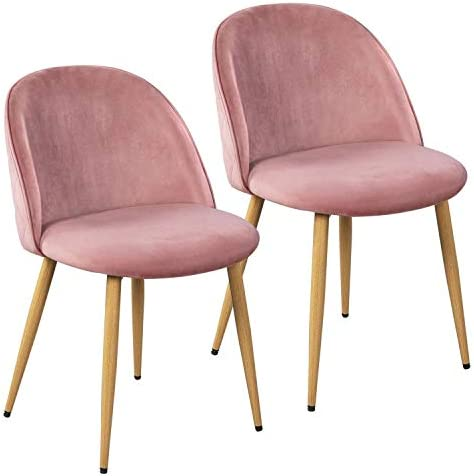 Best Yaheetech Dining Room Chairs Kitchen/Living Room Chairs Vanity/Makeup/Leisure/Accent Upholstered Sid