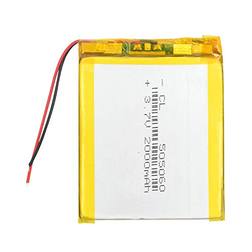 ahjs457 Batería de polímero de Litio de 3,7 V Nueva batería Recargable 505060 2000mah para navegación GPS de teléfono Celular