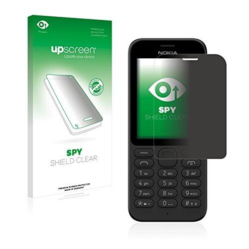 upscreen Anti-Spy Blickschutzfolie kompatibel mit Microsoft Nokia 215 Privacy Screen Sichtschutz Bildschirmschutz-Folie